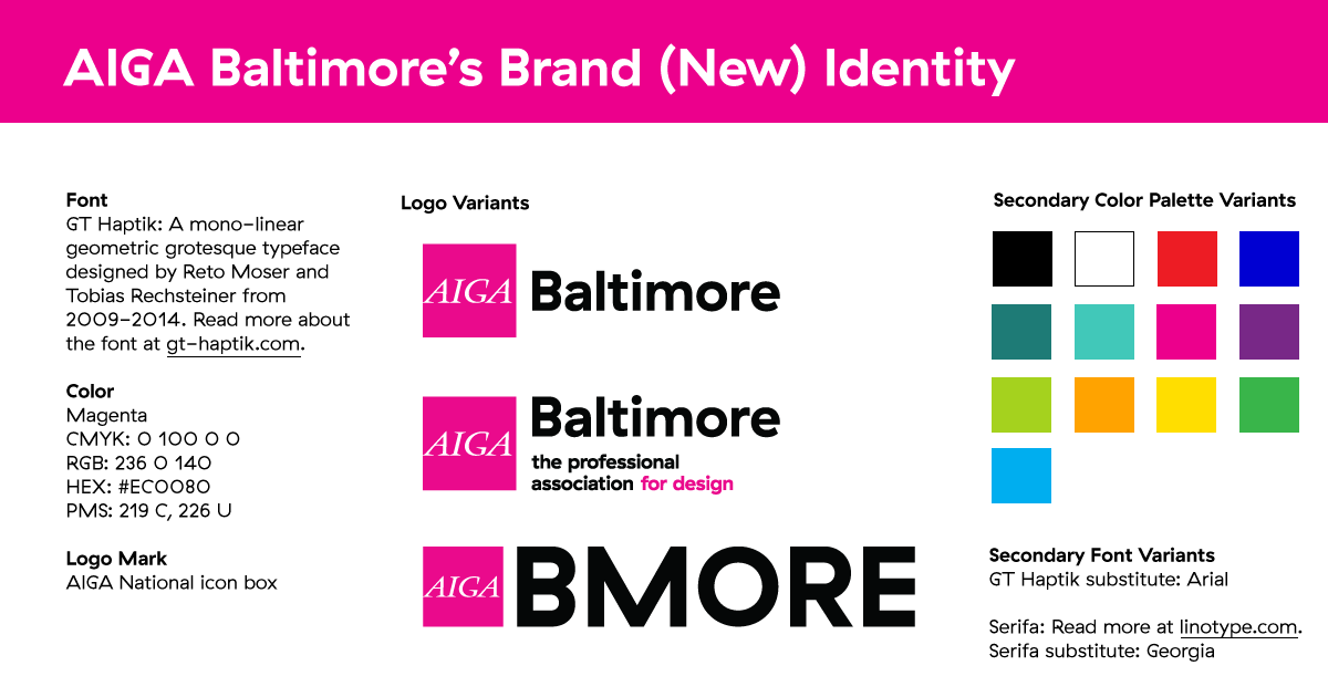 AIGA Baltimore's Brand (New) Identity Guide