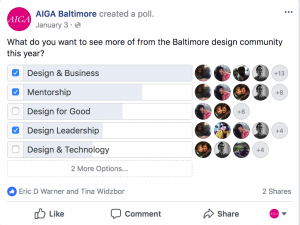 Facebook Poll Results