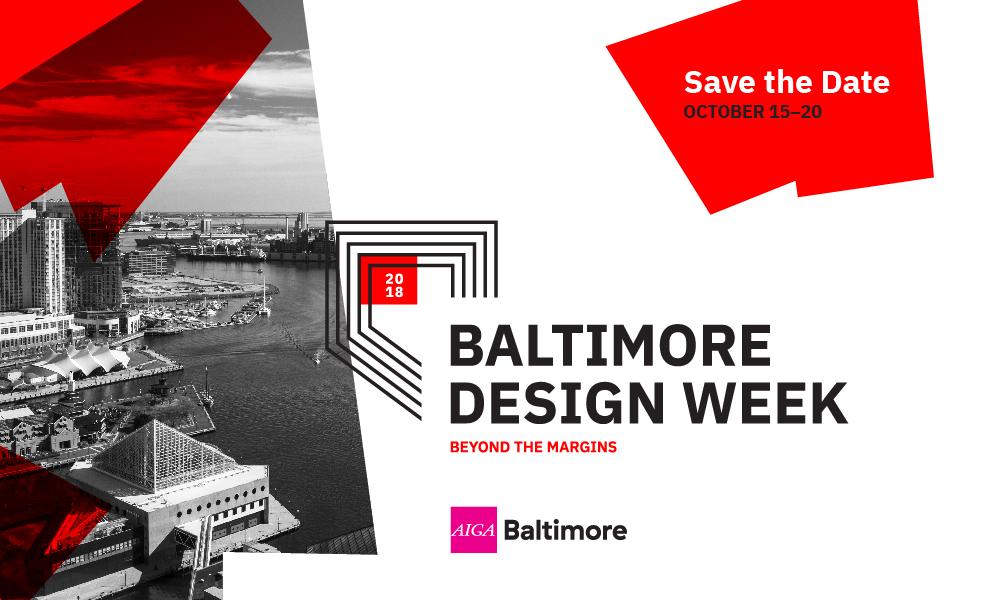 AIGA Baltimore- Design Week 2018 Save The Date