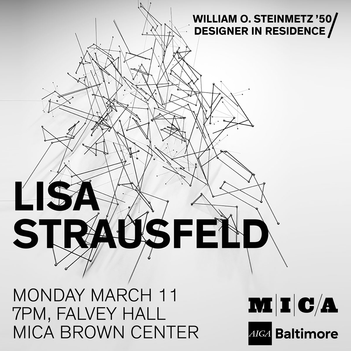 Lisa Strausfeld design lecture at MICA