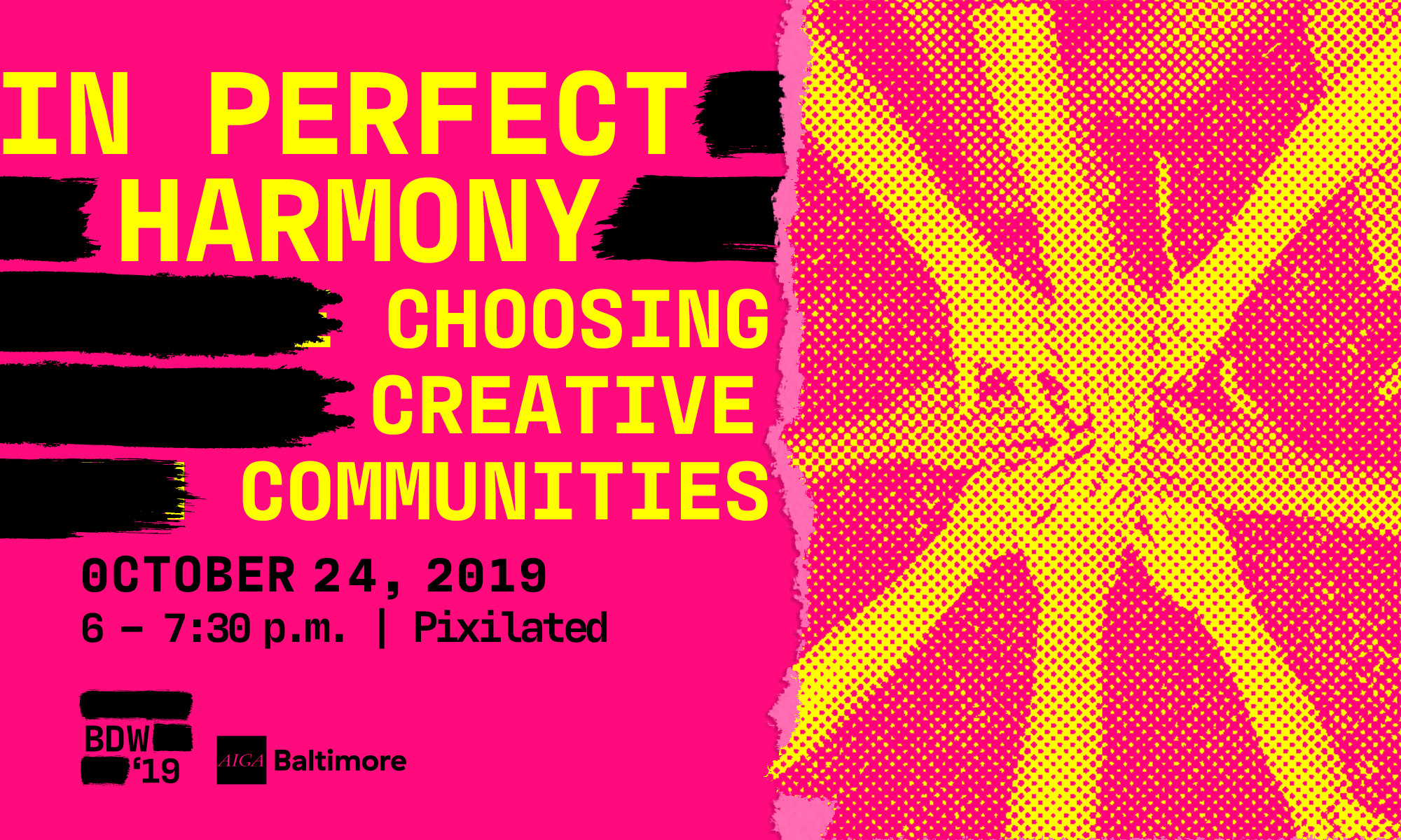 Choosing Creative Communities- AIGA Baltimore Design Week 2019 events