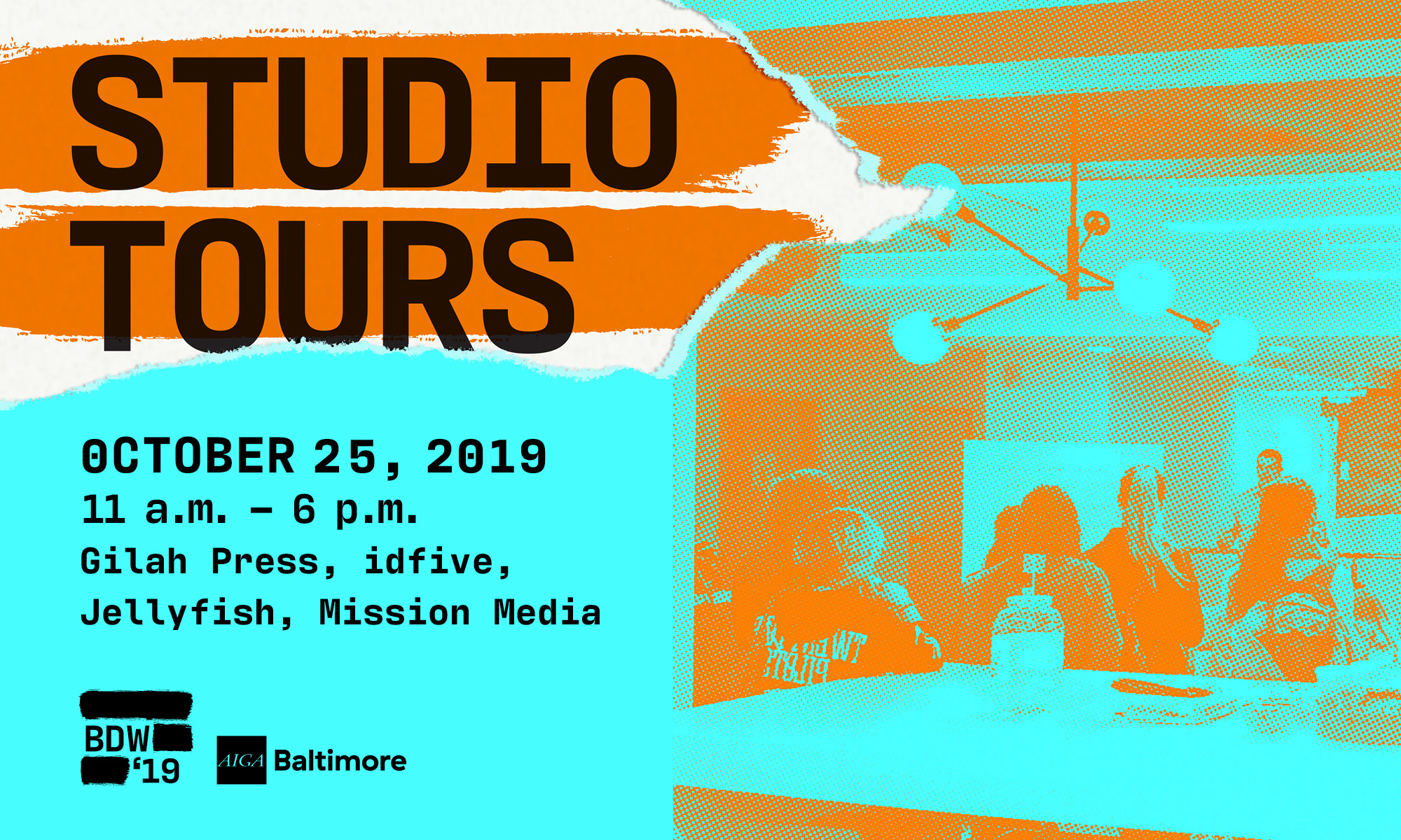 Baltimore Studio tours: Gilah Press, idfive, Jellyfish, Mission Media