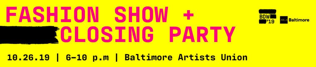 AIGA Baltimore fashion show design week 2019