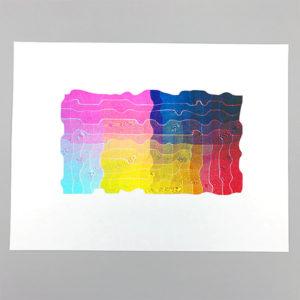 Baltimore Print Studios Riso Wave Print
