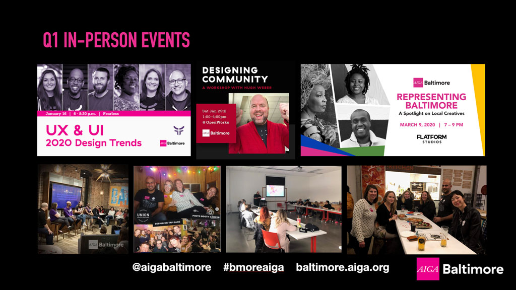 2020 Q1 AIGA Baltimore events